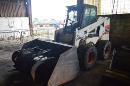 Bobcat 963 SKID STEER LOADER, pin 516511055, year of manufacture 1998, indicated hours 1042 (at time