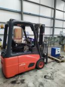 Linde E16C-01 Electric Four Wheel Forklift Truck, serial no. H2X386B08645, year of manufacture 2011,
