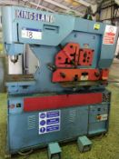 Kingsland 70XS HYDRAULIC IRONWORKER, with twotreadle controls dual operator, serial no. 290390,