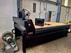 Tekcel V SERIES CNC ROUTER 8X4, serial no. 5357, year of manufacture 2008, dimensions approx.. 390cm
