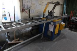 Tronzadoras TL-500-A ALUMINIUM SAW, with roller table, dimensions approx: Saw: 120cm wide, 145cm