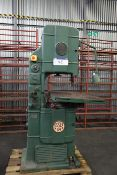Essex Saw Selector Band Saw, serial no. 18 BS 130, free loading onto purchasers transport - yes,