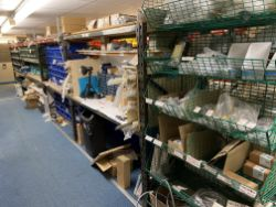Stock of Shower & Appliance Parts and Accessories (circa £130,000 cost), Warehouse Equipment, Office Furniture & Equipment and Mezzanine Floor