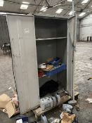 Double Door Steel Cabinet, with contents (lot located at Briscoe Lane, Newton Heath, Manchester, M40