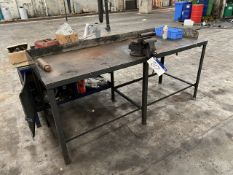 Workshop Bench, with fitted bench vice (lot located at Briscoe Lane, Newton Heath, Manchester, M40