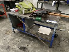 Steel Framed Workbench (lot located at Briscoe Lane, Newton Heath, Manchester, M40 2NL)