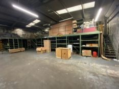 SSI SCHAFER Steel Mezzanine Floor Structure, overall size approx. 14.3m x 18m x 2.3m high, with