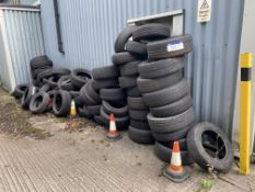 Quantity of Assorted Tyres, as set out in one area (lot located at Briscoe Lane, Newton Heath,