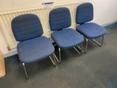Five Fabric Upholstered Steel Framed Stand Chairs (lot located at Briscoe Lane, Newton Heath,