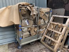 Wire Mesh Steel Cage Trolley with forklift eyelets (lot located at Briscoe Lane, Newton Heath,