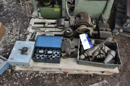 Assorted Machine Shop Equipment, on one pallet including Cincinnati dividing head, two machine