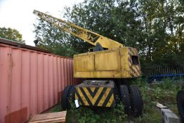 Coles ADONIS 30ft 10T WHEELED YARD CRANE, serial no. 30078, registration no. DEH 280H