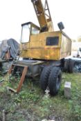 Coles 30ft Jib 10T WHEELED YARD CRANE, registration no. YNH 760W, serial no. 34763, 01216