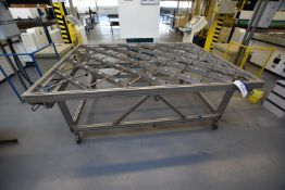 Alloy Framed Roller Feed Table, approx. 1.8m x 2.4m x 880mm high