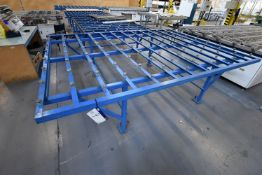 Stationary Steel Framed Roller Ball Feed Table, approx. 3m x 2.24m x 870mm high