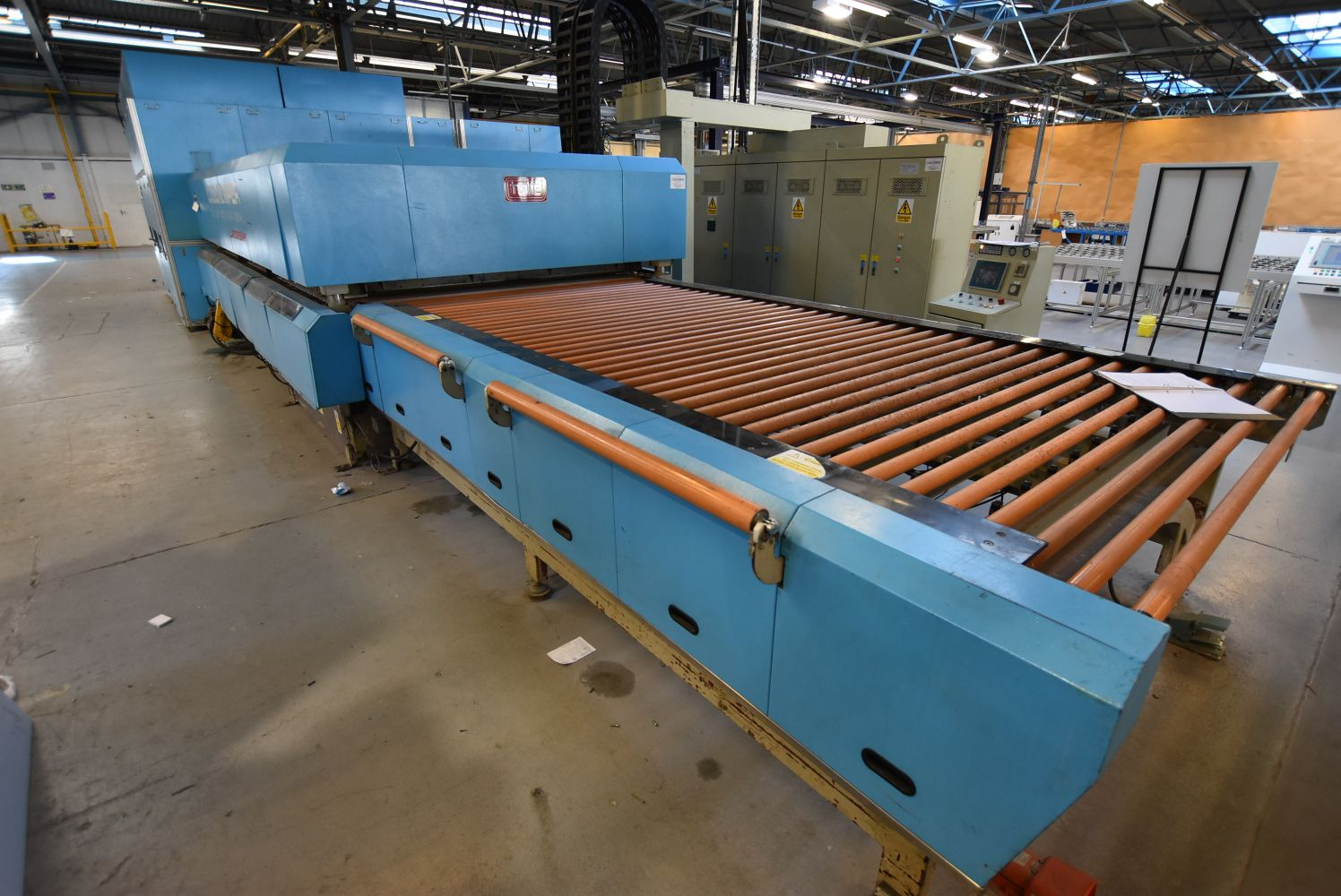 Solar Panel Production Machinery & Associated Equipment, Tempering Furnace, Factory Cranes and Air Compressor