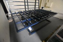 Tilting Roller Lifting Table, approx. 3.6m x 2.2m, with control and pneumatic lifting rams