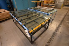 Two Mobile Benches, one 2m x 1.28m x 920mm high and one 1.8m x 1.3m x 980mm high
