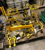 Two Metal Framed Cable Reel Trolleys, with six man