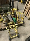 Four Metal Framed Cable Reel Trolleys