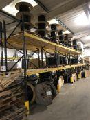 Boltless Steel Five Bay Two Tier Pallet Racking, w