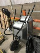 Two Unused Galvanised Steel Wheelbarrows