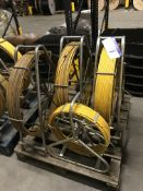 Four Various TWS Galvanised Steel Mobile Cable Ree