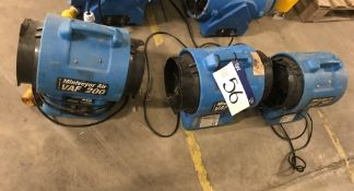 Three Miniveyor VAF-200 Air Fans, 110V