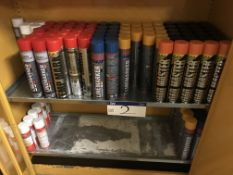 Approx. 90 Cans of Coloured Line Marker Spray