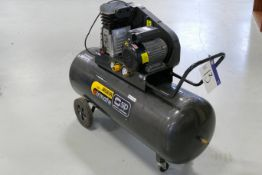 Sip Airmate PNB3800S/200 Mobile Horizontal Receiver Mounted Air Compressor, serial no. 123764, 240V