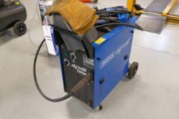 Draper 2300T TURBO MIG WELDING UNIT, serial no. N538292, with assorted gauges, gloves and mask