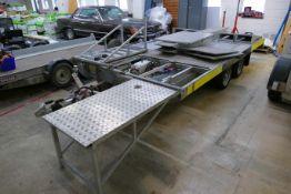 Trailerlift MPT10 TWIN AXLE SPECIAL PURPOSE TRAILER, serial no. 100304, 4.3m long on main body, with