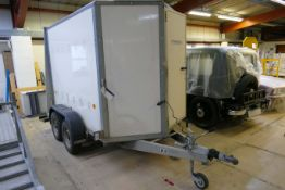 Ifor Williams BV85G TWIN AXLE BOX TRAILER, serial no. SCK400000V0225659, 2584kg, with GRP sides,