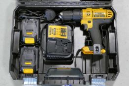 DeWalt 18V Portable Battery Electric Drill, with equipment in box