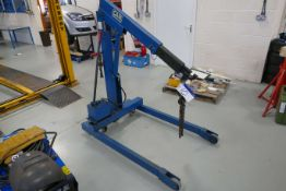 Cam 1500kg SWL Hand Hydraulic Mobile Workshop Crane, LE33J