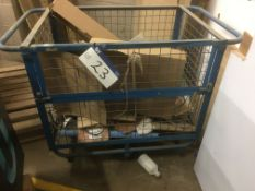 Steel Frame Cage Truck, (no contents)