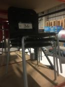 Three Steel Framed Black Stand Chairs