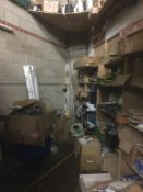 Loose Contents of Storeroom, including mainly elec