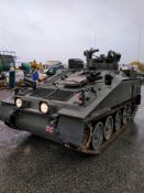 Alvis FV102 CRVT Striker Armoured Vehicle, vendors comments:- In running order with a new set of