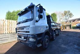 DAF CF85.360 32 tonne 8x4 TIPPER, registration no. LT09 ZVS, date first registered 06/09, test to