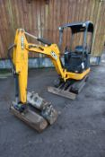 JCB 8014 CTS 1481kg TRACKED COMPACT EXCAVATOR, serial no. JCB08014V02069697, year of manufacture