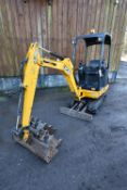 JCB 8014 CTS 1481kg TRACKED COMPACT EXCAVATOR, serial no. JCB06014L02373979, year of manufacture