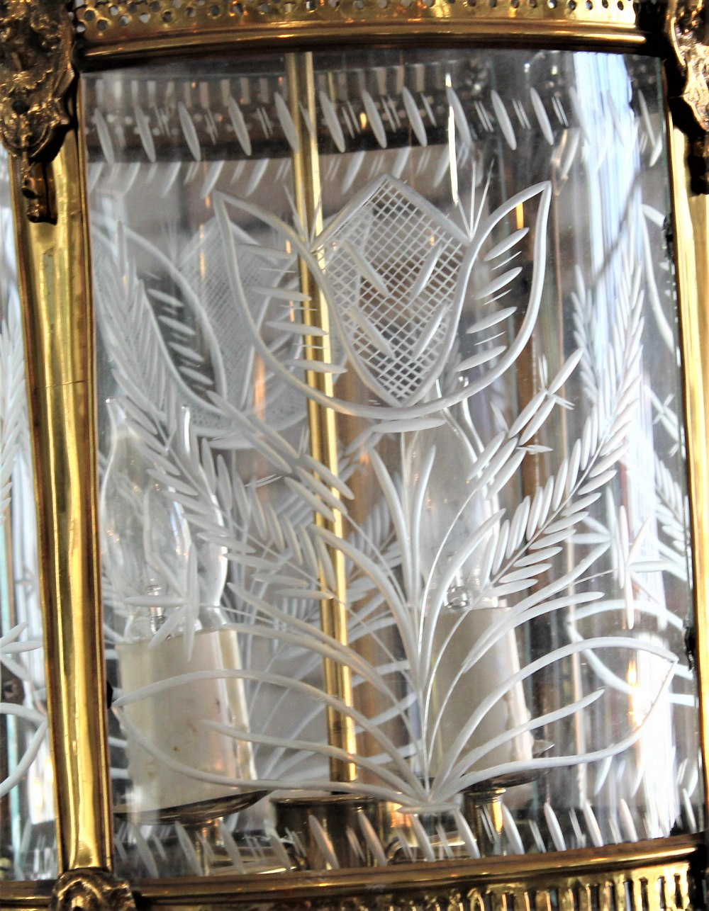 Early 20th C French Glass Chandelier - Image 6 of 7