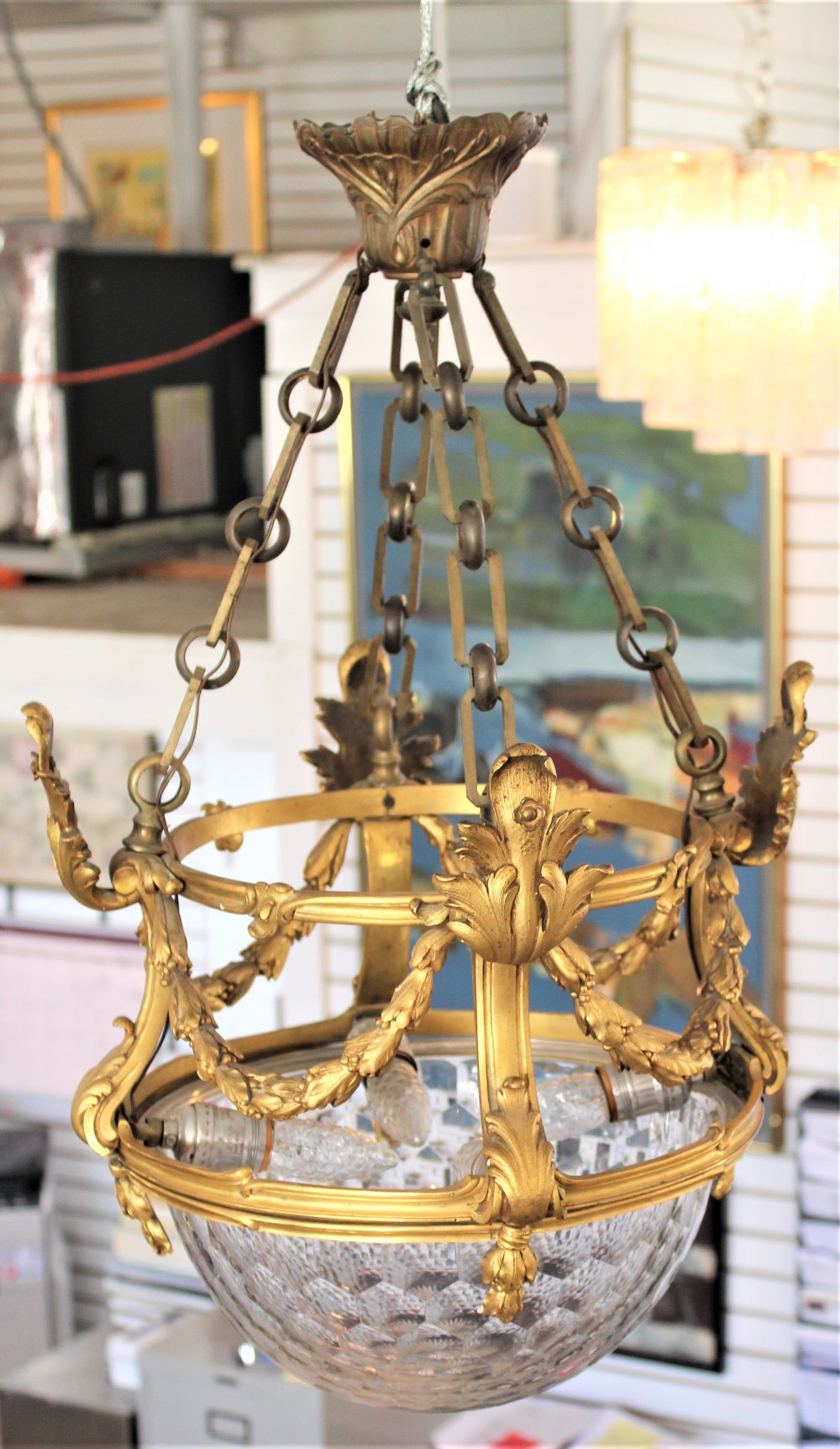 Rare 19th C. French Baccarat Glass Chandelier - Image 6 of 7