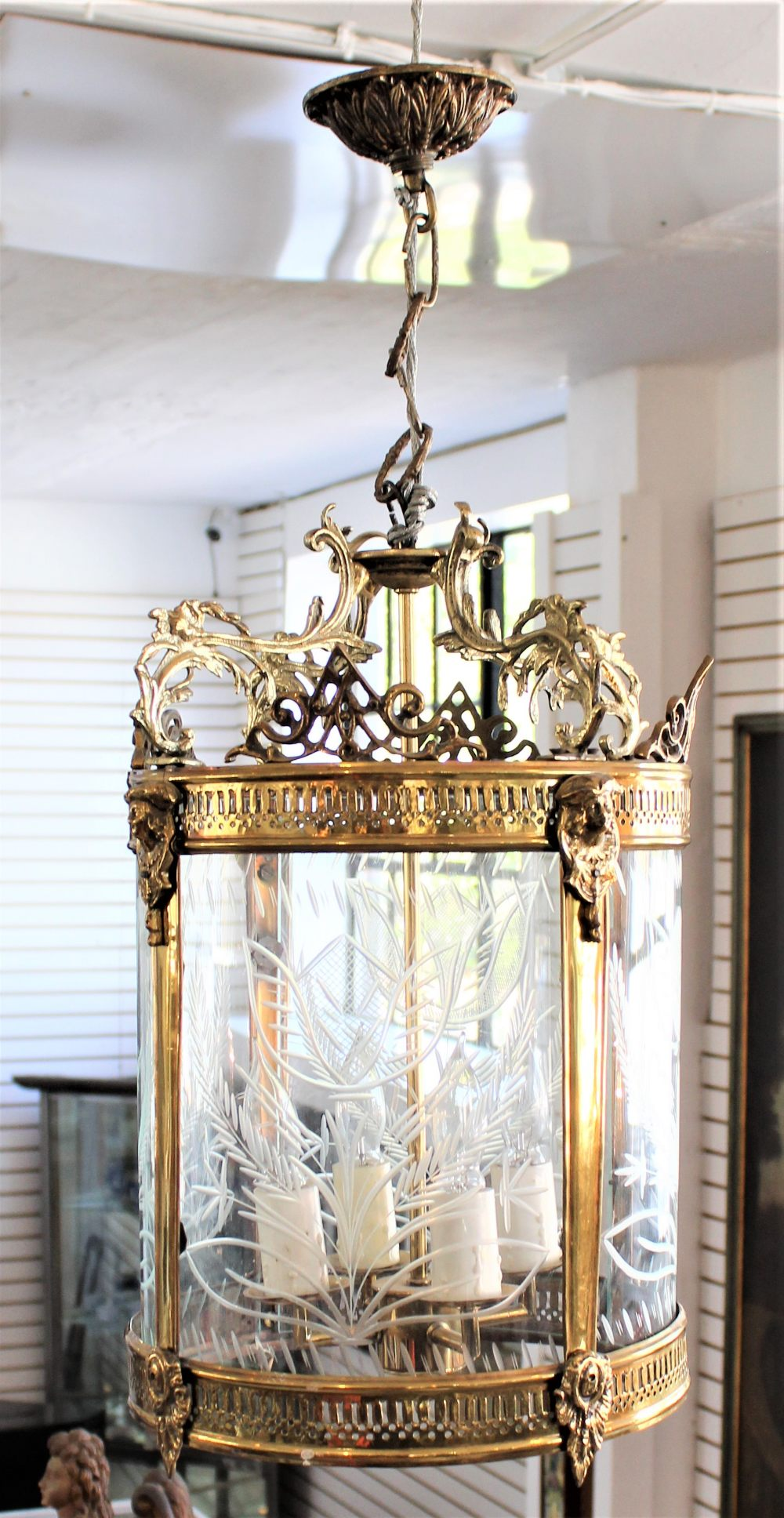 Early 20th C French Glass Chandelier