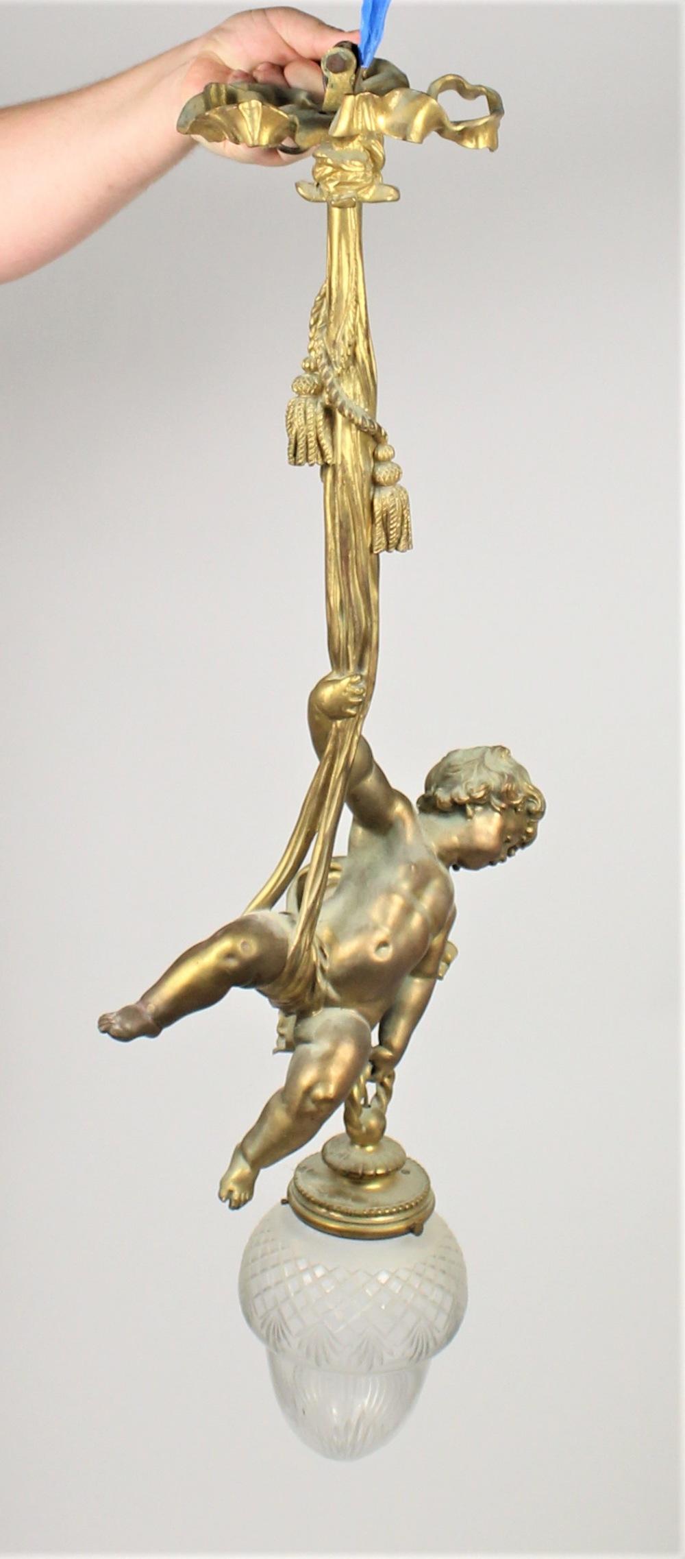 Bronze Cherub Chandelier - Image 10 of 10