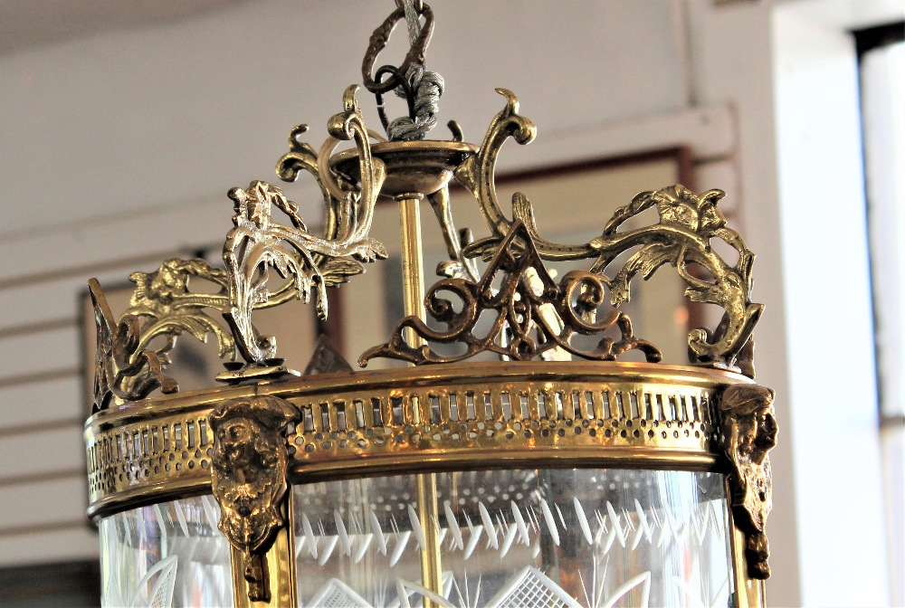 Early 20th C French Glass Chandelier - Image 3 of 7