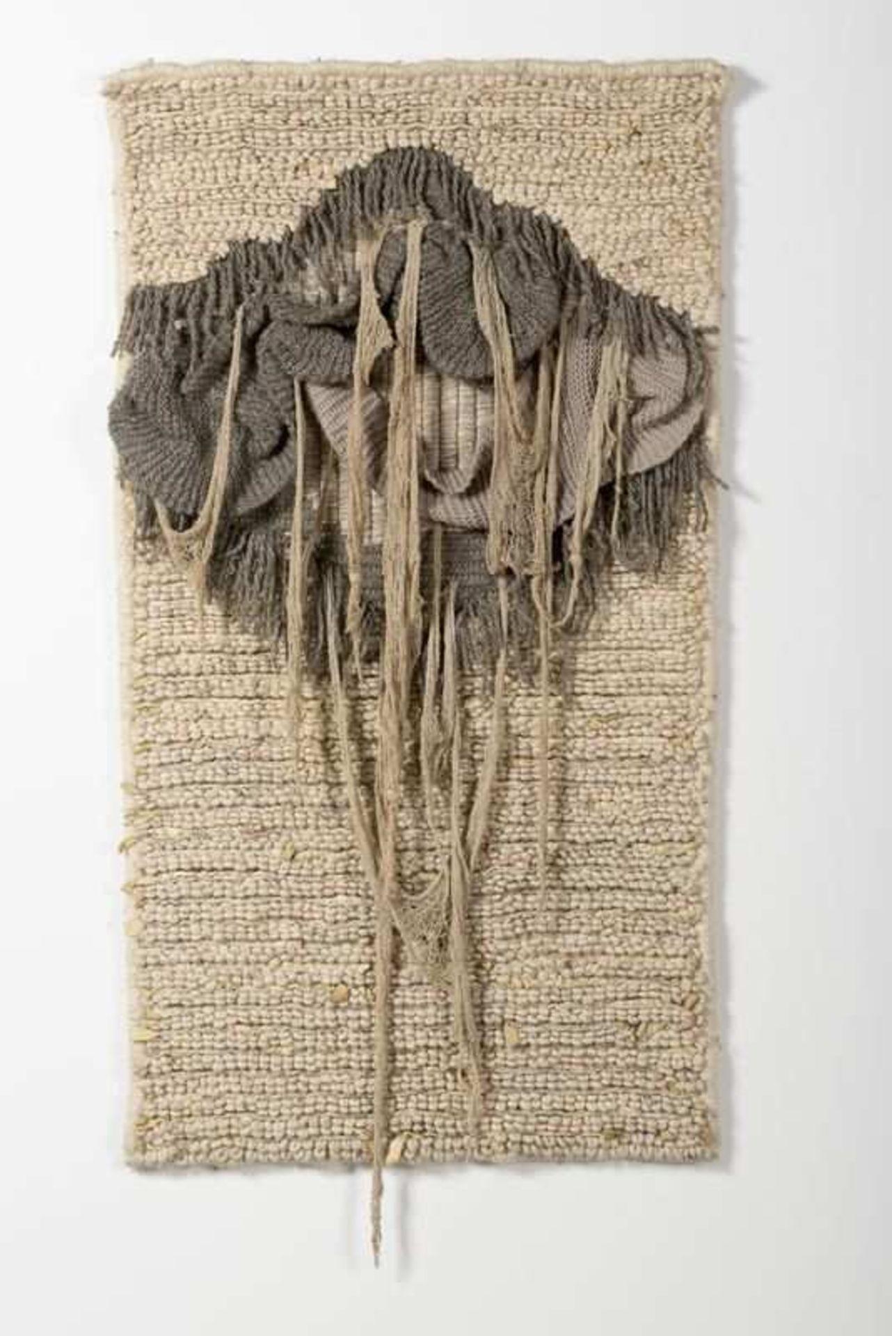 Los 302 - artiste non identifié Tapisserie Laine, coton et cuir. Wol, katoen en leder. 133 x 75 cm