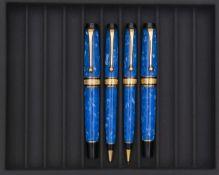 AURORA, Mare, Lot de quatre stylos, Composé d'un stylo plume, d'un stylo bille, d'un porte-mines
