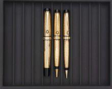 AURORA, Christopher Columbus, Lot de trois stylos Série éditée en 1992, à 1492 exemplaires pour
